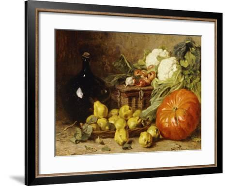 A Still Life with a Wine Flagon-Eugene Claude-Framed Art Print