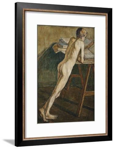Stehender Knabenakt (Knabenakt), 1907-Christian Rohlfs-Framed Art Print