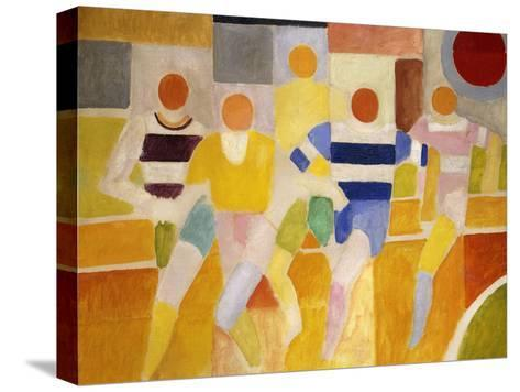 The Runners-Robert Delaunay-Stretched Canvas Print