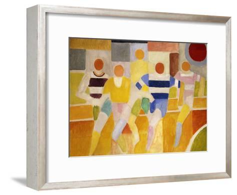 The Runners-Robert Delaunay-Framed Art Print