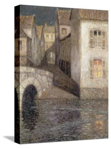 The House by the River, Chartres-Henri Eugene Augustin Le Sidaner-Stretched Canvas Print