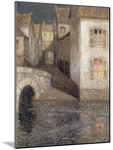 The House by the River, Chartres-Henri Eugene Augustin Le Sidaner-Mounted Giclee Print