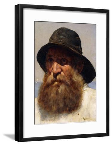 Portrait of a Fisherman-Edwin Harris-Framed Art Print