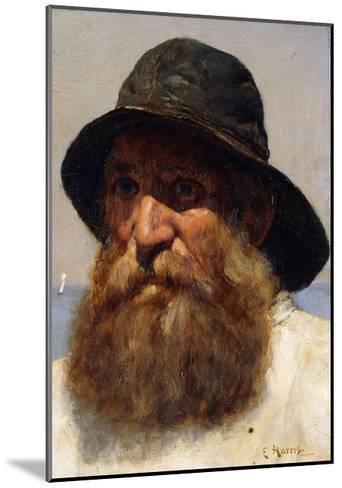 Portrait of a Fisherman-Edwin Harris-Mounted Giclee Print