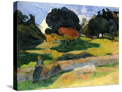 The Pig Field-Paul Gauguin-Stretched Canvas Print