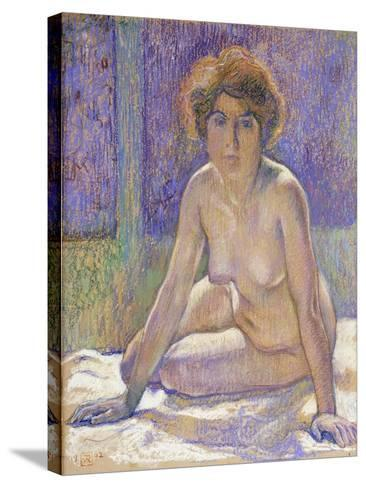 Femme Nue Assise-Theo Rysselberghe-Stretched Canvas Print