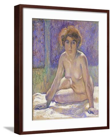 Femme Nue Assise-Theo Rysselberghe-Framed Art Print