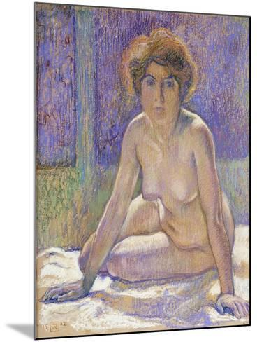Femme Nue Assise-Theo Rysselberghe-Mounted Giclee Print