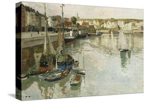 Dieppe-Frits Thaulow-Stretched Canvas Print