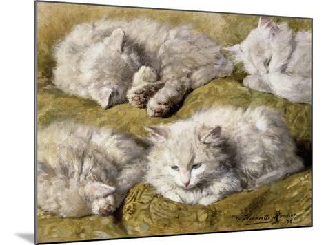 Studies of a Long-haired White Cat-Henriette Ronner-Knip-Mounted Giclee Print
