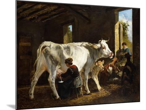 La Mungitura-Giuseppe Palizzi-Mounted Giclee Print
