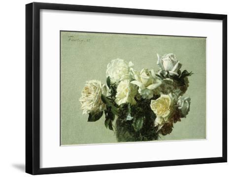 Roses-Henri Fantin-Latour-Framed Art Print