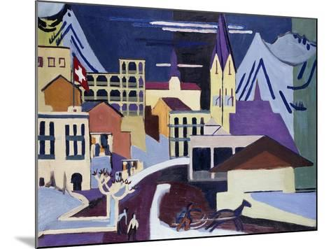 Davos-Platz Railway Station-Ernst Ludwig Kirchner-Mounted Giclee Print