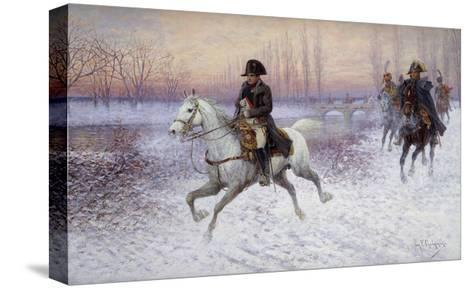 Napoleon at the Head of a Troop of Cavalry-Jan		 Chelminski-Stretched Canvas Print