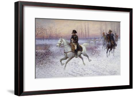 Napoleon at the Head of a Troop of Cavalry-Jan		 Chelminski-Framed Art Print