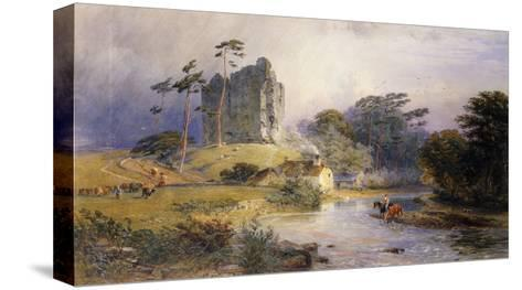 Thirlwall Castle, Northumberland-Henry George Hine-Stretched Canvas Print