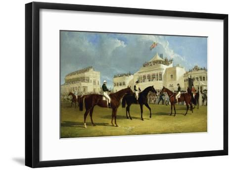 Preparing to Start for the Emperor of Russia's Cup at Ascot, 1845-John Frederick Herring I-Framed Art Print