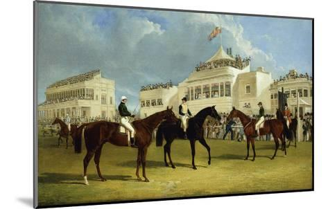 Preparing to Start for the Emperor of Russia's Cup at Ascot, 1845-John Frederick Herring I-Mounted Giclee Print