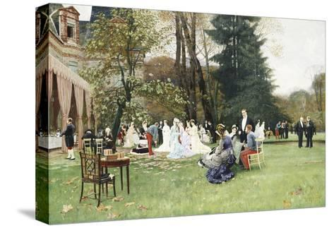 The Wedding, Fontainebleu-Charles Edouard Delort-Stretched Canvas Print