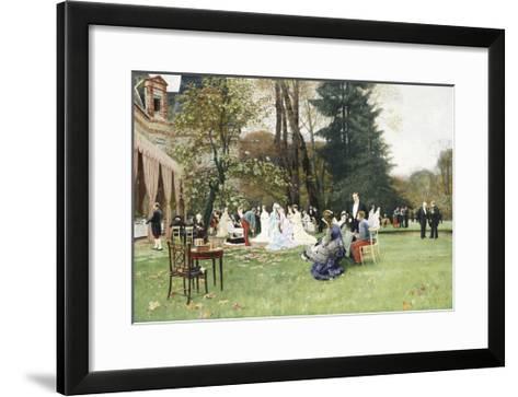 The Wedding, Fontainebleu-Charles Edouard Delort-Framed Art Print