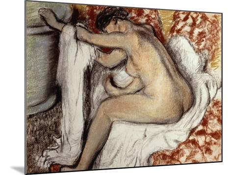 After the Bath, Woman Drying-Edgar Degas-Mounted Giclee Print