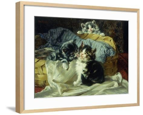 Playful Kittens-Julius Adam-Framed Art Print