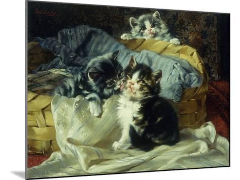 Playful Kittens-Julius Adam-Mounted Giclee Print