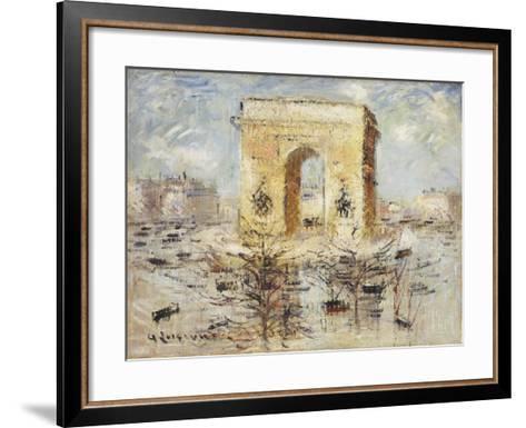 L'Arc de Triomphe, Place of the Star-Gustave Loiseau-Framed Art Print