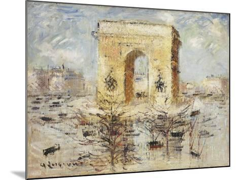 L'Arc de Triomphe, Place of the Star-Gustave Loiseau-Mounted Giclee Print