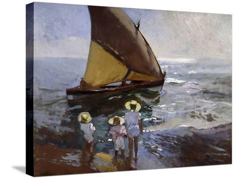 On the Beach, Valencia-Joaqu?n Sorolla y Bastida-Stretched Canvas Print