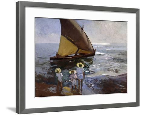 On the Beach, Valencia-Joaqu?n Sorolla y Bastida-Framed Art Print