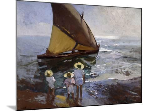 On the Beach, Valencia-Joaqu?n Sorolla y Bastida-Mounted Giclee Print