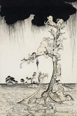 'The Animals You Know Are Not As They Are Now'-Arthur Rackham-Stretched Canvas Print