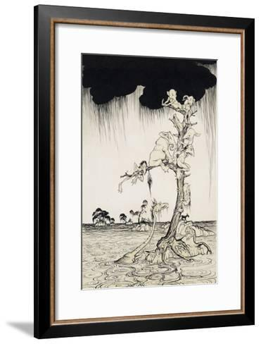 'The Animals You Know Are Not As They Are Now'-Arthur Rackham-Framed Art Print