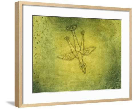 Down the More Troubling Bird-Paul Klee-Framed Art Print