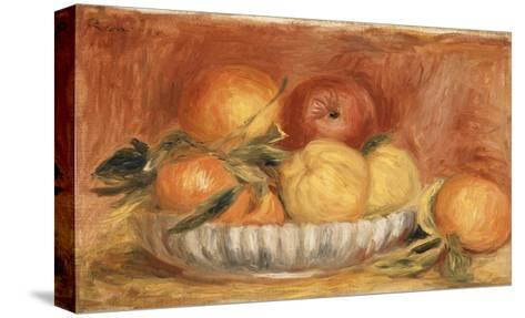 Still-life with Apples and Oranges-Pierre-Auguste Renoir-Stretched Canvas Print