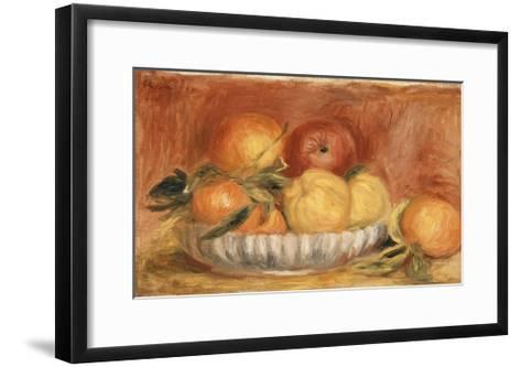 Still-life with Apples and Oranges-Pierre-Auguste Renoir-Framed Art Print