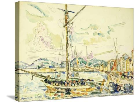 Le Port de Saint-Tropez-Paul Signac-Stretched Canvas Print