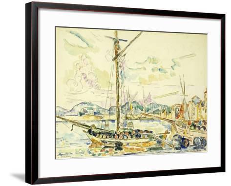 Le Port de Saint-Tropez-Paul Signac-Framed Art Print