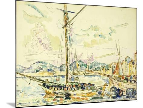 Le Port de Saint-Tropez-Paul Signac-Mounted Giclee Print