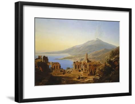 Teatro Greco, Taormina, with Etna beyond-Karl Robert Kummer-Framed Art Print