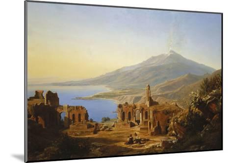 Teatro Greco, Taormina, with Etna beyond-Karl Robert Kummer-Mounted Giclee Print