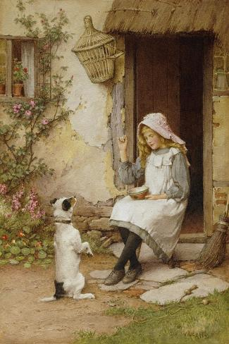 A Mute Appeal-Charles Edward Wilson-Stretched Canvas Print