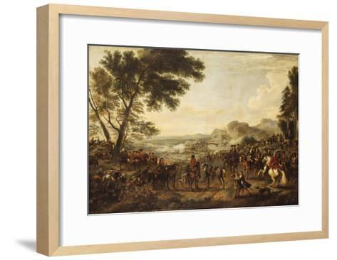 King William III and his Troops preparing for a Battle-Jan		 Wyck-Framed Art Print