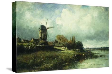 A River Landscape with a Windmill-Victor		 Dupre-Stretched Canvas Print