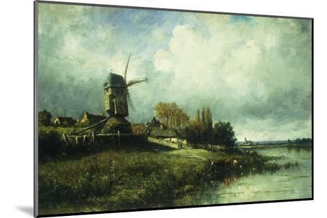 A River Landscape with a Windmill-Victor		 Dupre-Mounted Giclee Print