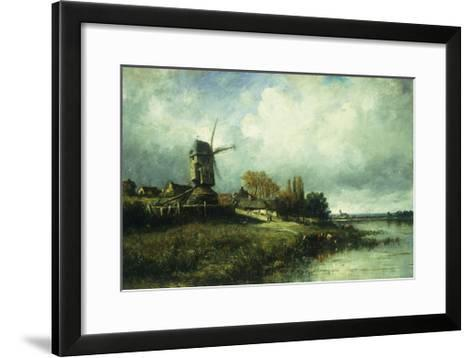 A River Landscape with a Windmill-Victor		 Dupre-Framed Art Print
