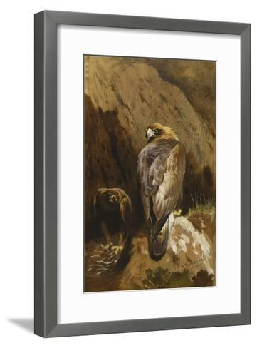 Golden Eagles at their Eyrie-Archibald		 Thorburn-Framed Art Print