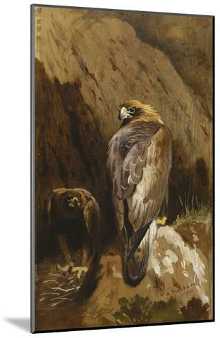 Golden Eagles at their Eyrie-Archibald		 Thorburn-Mounted Giclee Print