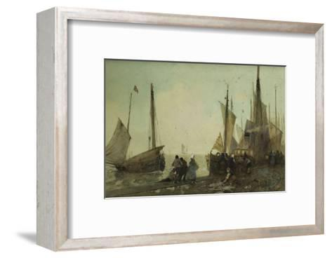 Unloading Fishing Boats on the Quay, Brittany Giclee Print by Hector ...